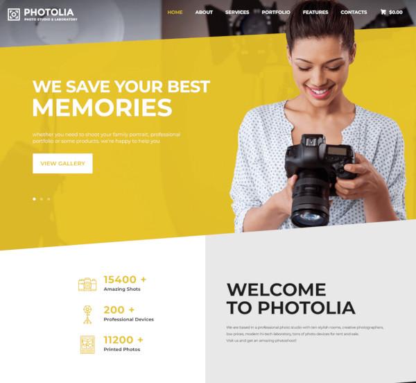 photo company supply store wordpress theme