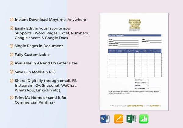 price-quotation-excel-template