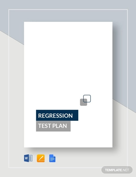 regression test plan template