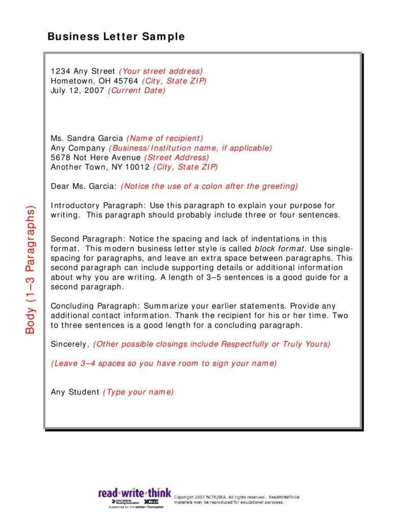Sample-Business-Letter-page-001-788x1020 Official Letter Format Example on military official, business person, job application, proper corporate, legal business,