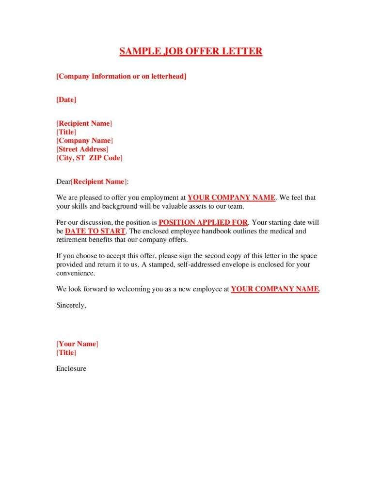 Sample-Job-Offer-Letter-page-001-788x1020 Temp To Hire Offer Letter Template on temporary position, free employee, free real estate, internship job, free purchase, free sample job,
