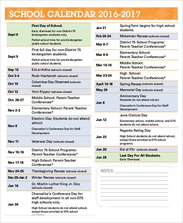 Agenda Calendar Templates  Free Samples Examples Format