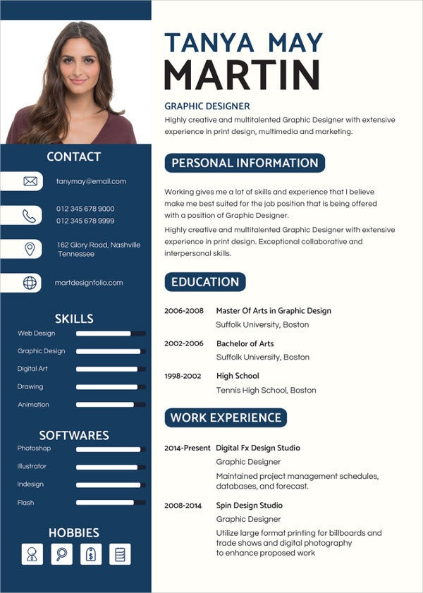 Superbe Simple Graphic Designer Resume Template