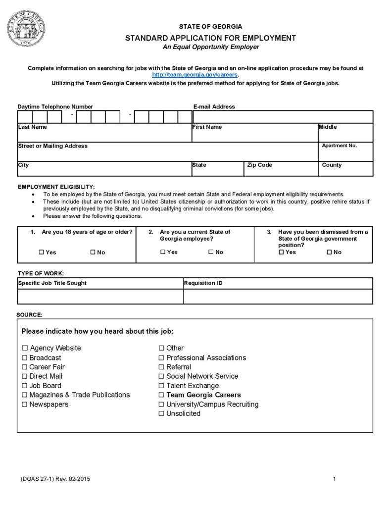 10 employment application form free samples examples formats standard application for employment form falaconquin