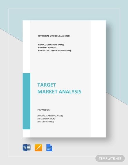 target market analysis template1