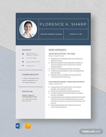 Manager Resume sample Template - 48+ Free Word, PDF