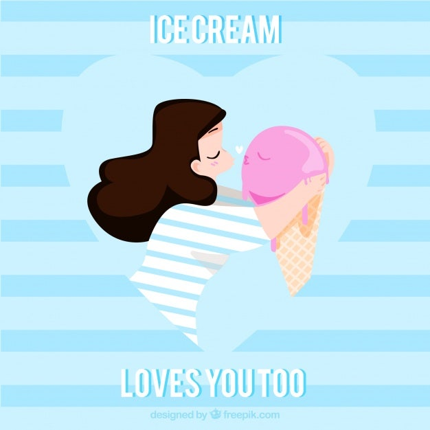 background-of-lovely-girl-kissing-an-ice-cream_23-2147634973