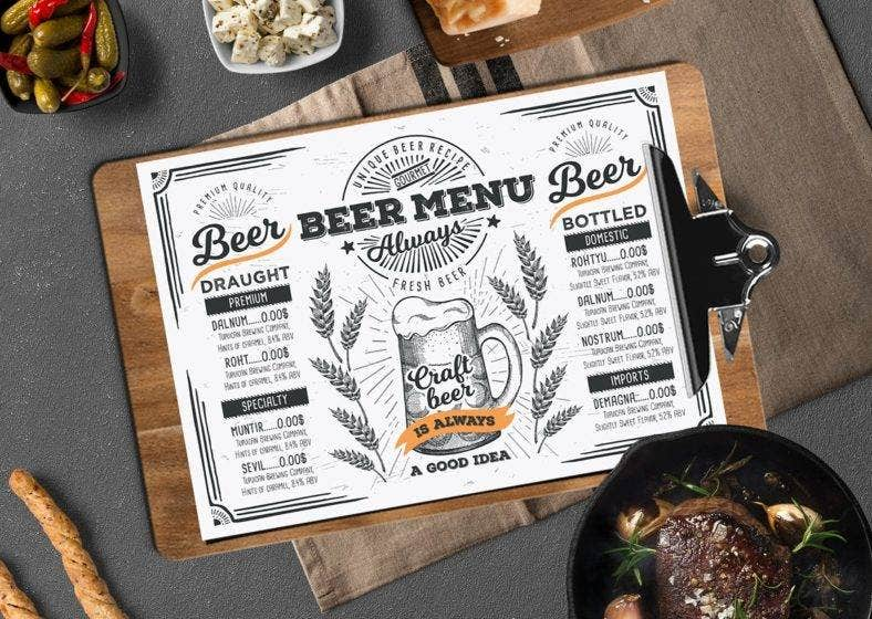 beer-alcohol-template-menu-restaurant