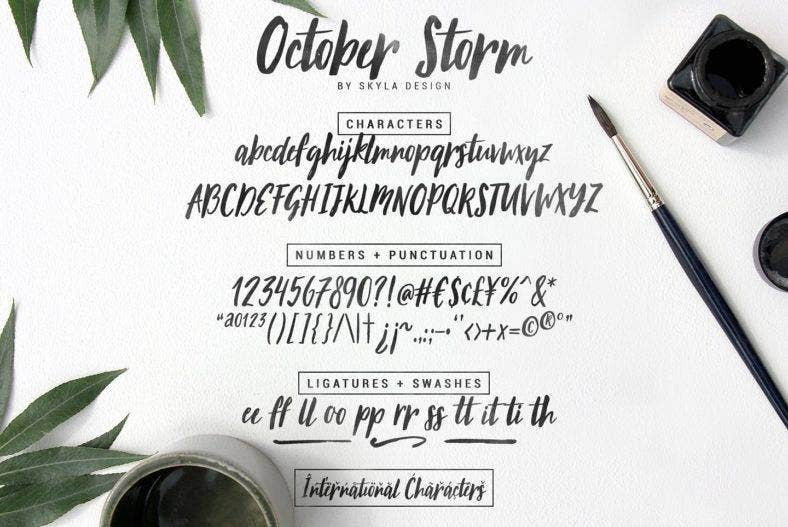 brush_font_october_storm5