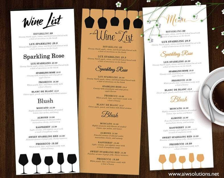 Printable Menu Templates  Samples Examples  Free  Premium