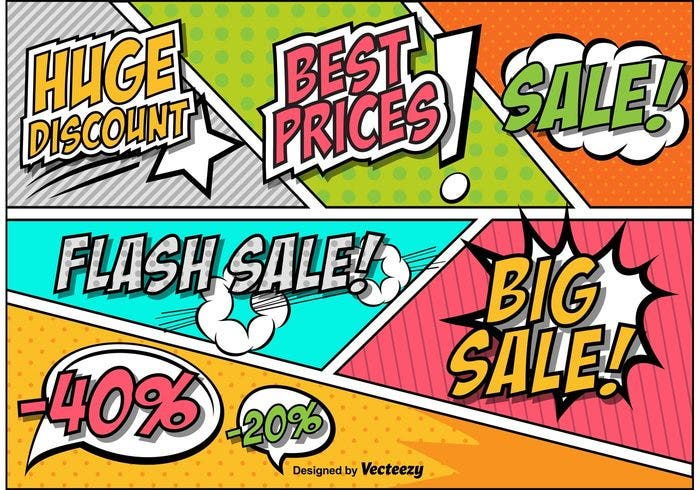 retro-comic-style-sale-and-discount-sign-vectors