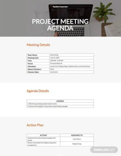 small business meeting agenda