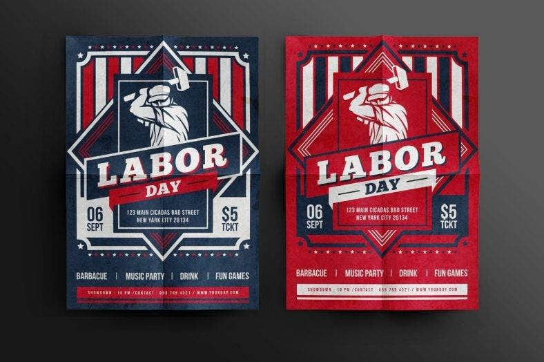 Beautiful Labor Day Celebration Flyer