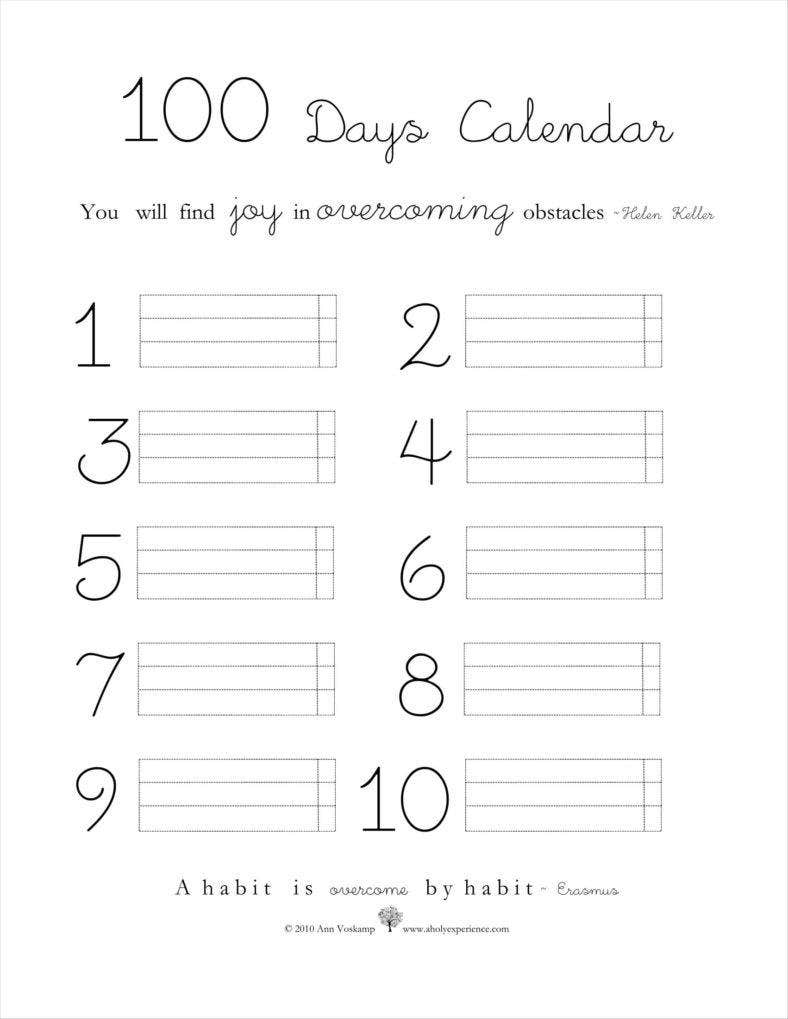 Calendar Days : Day calendar templates free samples examples formats