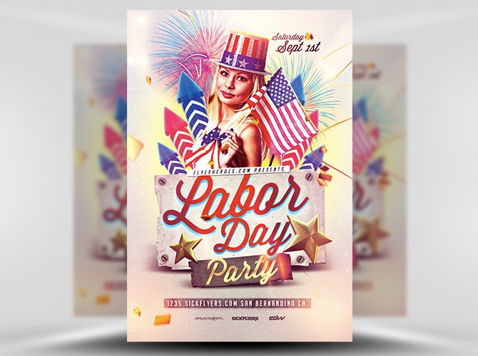 Exciting Labor Day Party Flyer Template