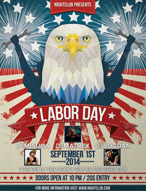 30 Labor Day Party Flyer Template Psd Jpeg Png Free Premium