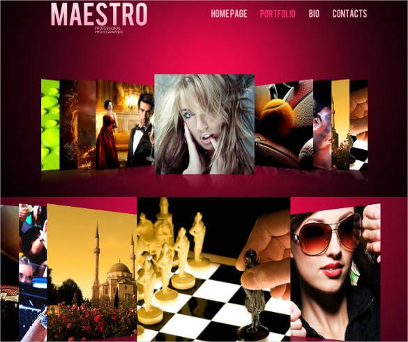 3d photo studio cms website template