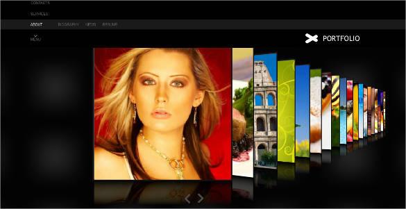 3d photographer portfolio flash cms template