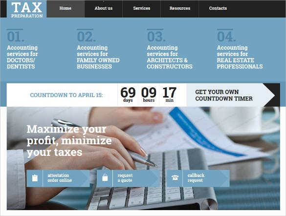 accounting website responsive website