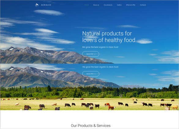 agrialco responsive website theme template