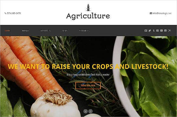 agriculture one page website theme