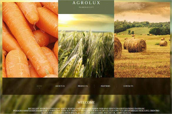 agriculture website template with google map