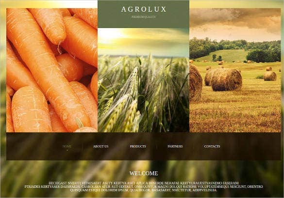 agriculture website theme