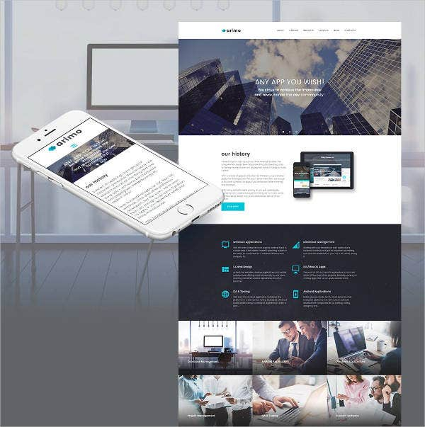 arimo responsive bootstrap template