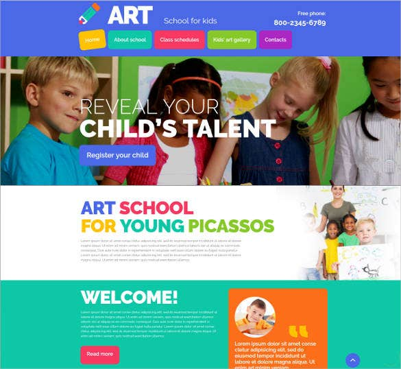 25+ Best Premium School Website Templates | Free & Premium Templates