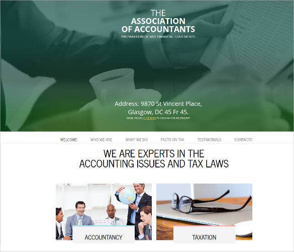 Amazing Accountant Website Themes Templates Free Premium - Tax website templates