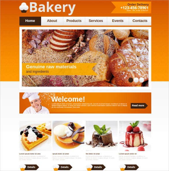 bakery website theme