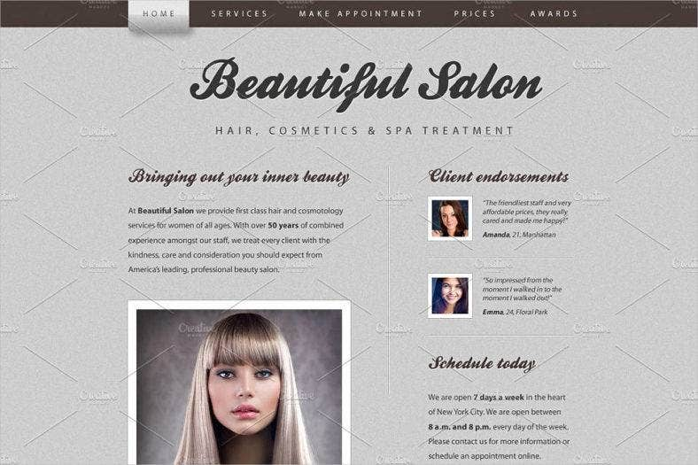 beautiful salon website template 788x525