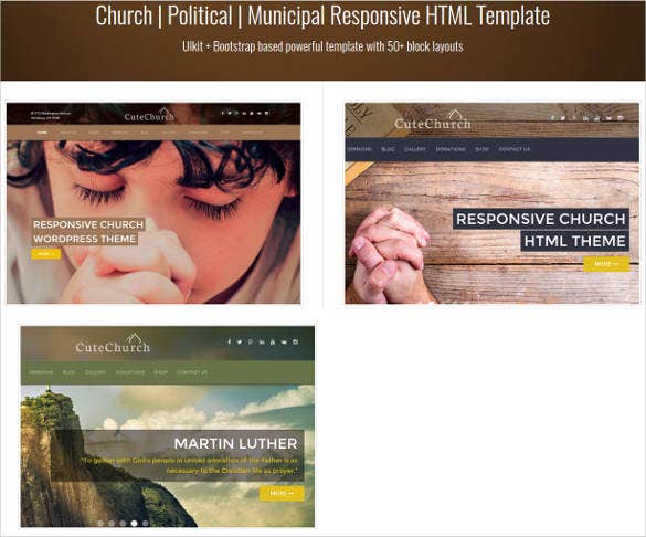 best church responsive html template