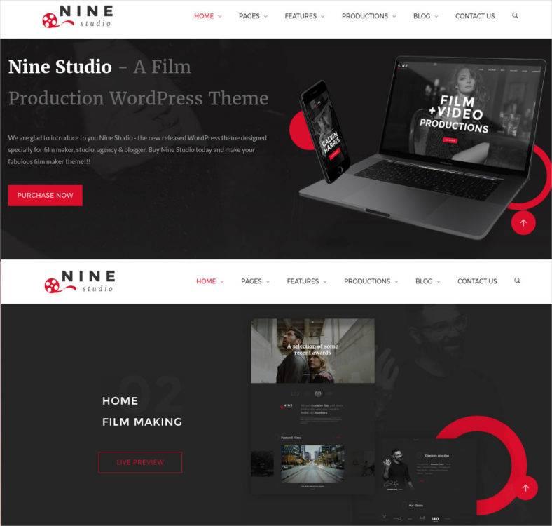 Movie Production Website Template Gallery - Template Design Ideas