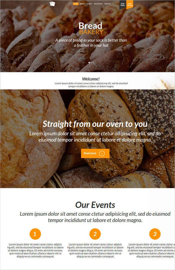 bread bakery website theme1