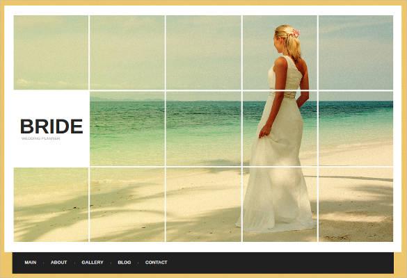 bridel wedding planner website template