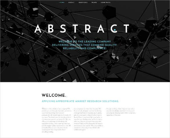business abstract responsive website