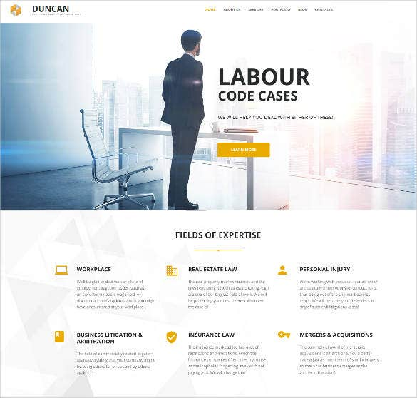 business lawyer responsive moto cms 3 template