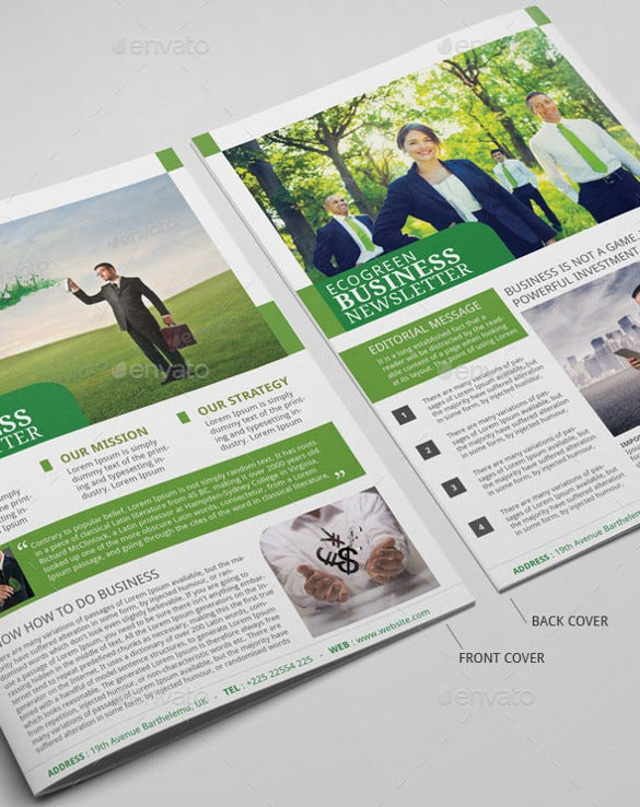 business-newsletter-psd