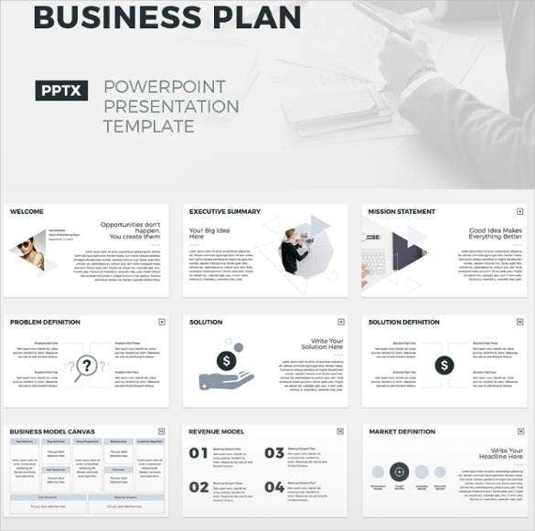 business plan website template