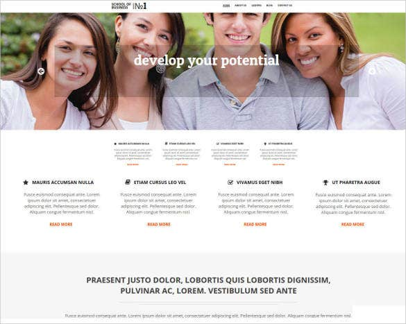 business school website template2