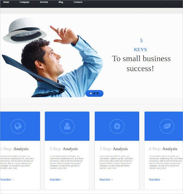 21 free business website themes templates free premium templates business website design template wajeb Image collections