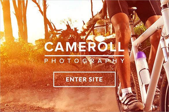 cameroll photography html5 website template