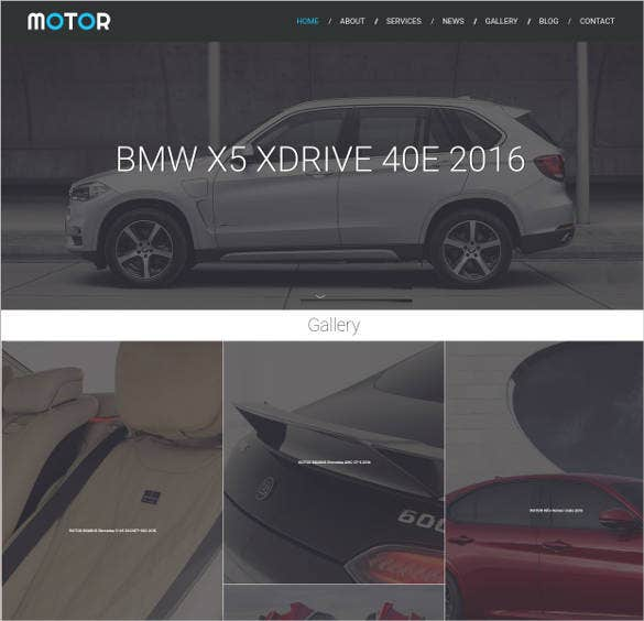car dealer responsive website theme template