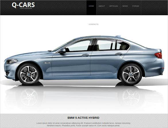 car dealer website design template