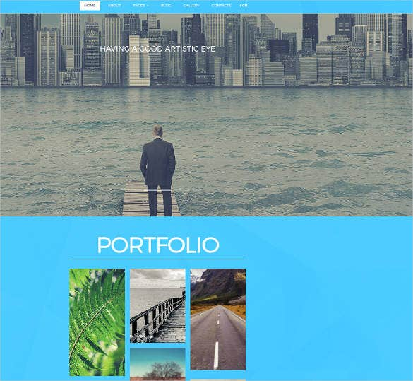 catching photography website theme
