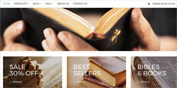 catholic church responsive shopify theme