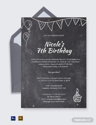 chalkboard invitation template