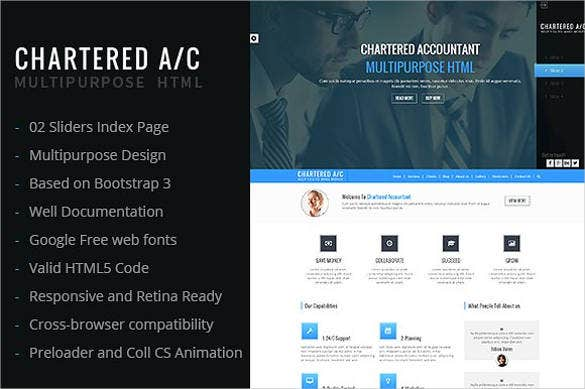 chartered accountant website template