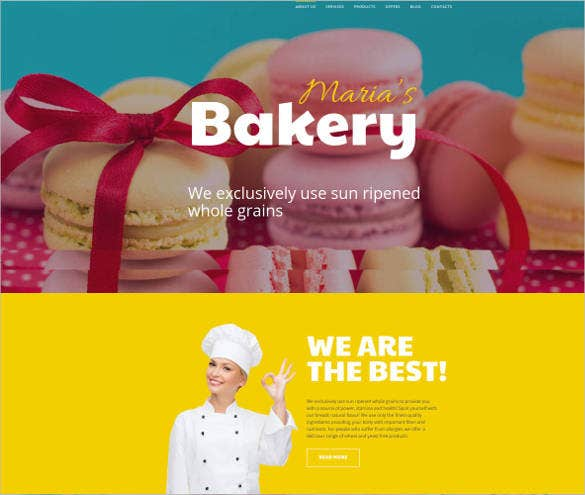 chief bakery cook website template1